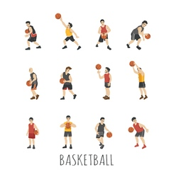 Young Basketball player eps10 format vector image