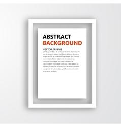 3D frame Design for image vector image