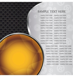 Abstract background with glass balls as speech vector image vector image