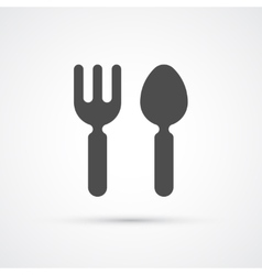 Cutlery fork and spoon trendy icon vector image