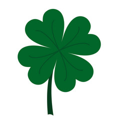 four leaf clover icon isolated vector image vector image