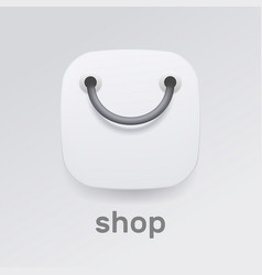 realistic shopping icon icon design in vector image
