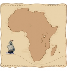 stylised old africa map vector image