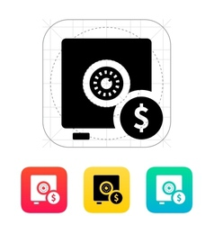 Strongbox with dollar sign icon vector image