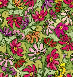 summer flowers seamless vector image
