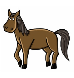 horse cartoon vector image