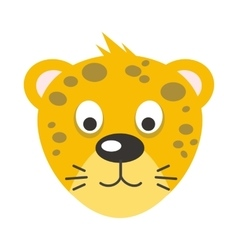 Leopard Face in Flat Design vector image vector image