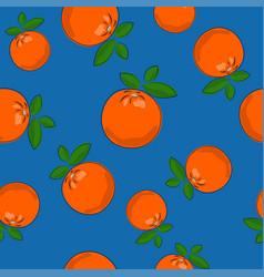 Seamless pattern orange on blue background vector