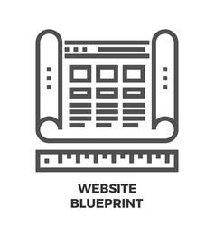 website blueprint line icon vector image vector image