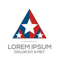 business creative star emblem logo design icon vector image vector image
