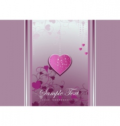 heart bracket and curls on a violet background vector image