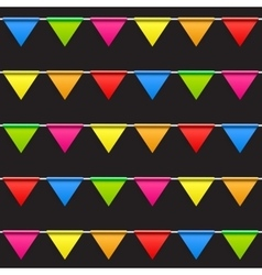 Party background with flags seamless pattern vector