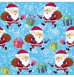 Santa Claus Seamless vector image vector image
