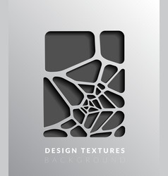 Abstact voronoi design background vector