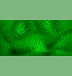 Abstract wavy halftone dots background vector