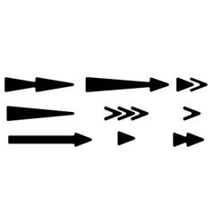 arrowhead pointer set arrow shapes arrow elements vector image