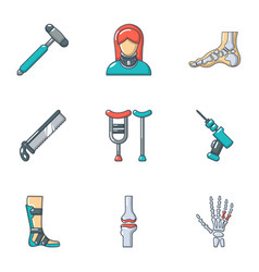 Artificial limb icons set cartoon style vector