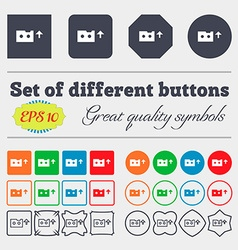 audio cassette icon sign Big set of colorful vector image