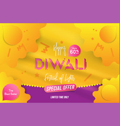 banner diwali festival of lights with special vector image