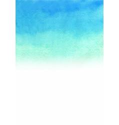 blue sky color gradient background watercolor vector image