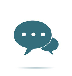 blue speech bubble icon isolated modern contact u vector image