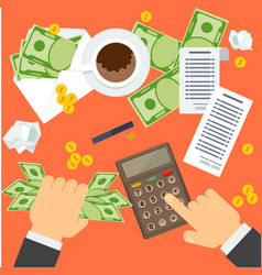 bookkeeping work place vector image