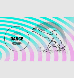 breakdance freeze outline breakdance vector image