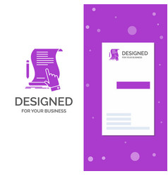 business logo for contract document paper sign vector image