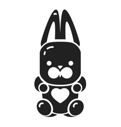 candy rabbit icon simple style vector image