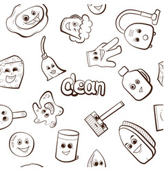 Cartoon items for cleaning vector