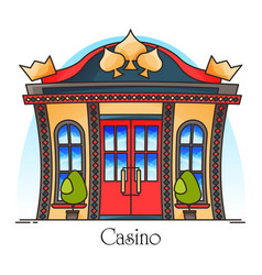 casino building or gambling house entrance vector image