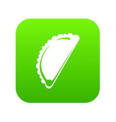 cheburek icon green vector image