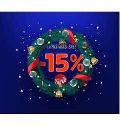 Christmas sale special offer promo banner 15 vector