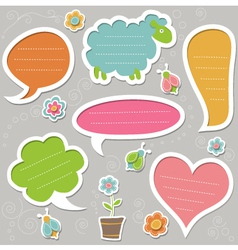 Collection of text frames vector image vector image