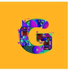 Colorful alphabet font letter g for logo vector