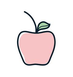Delicious apple healthy fruit vector