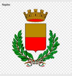 Emblem of naples vector
