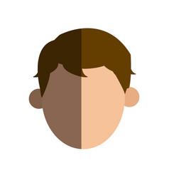 Faceless head man people image vector