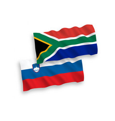 flags slovenia and republic south africa on vector image