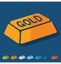 Flat design bullion gold vector