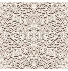 Floral beige pattern vector
