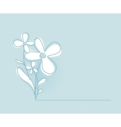 Flower Background Simple and Clean Herbal vector