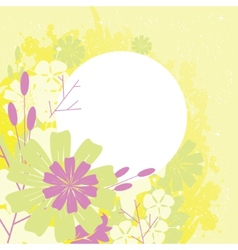 frame design with flowers vector image
