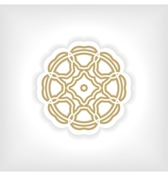 Gold mandala or geometrical figure decorative vector image