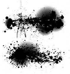 grunge ink splat pair vector image