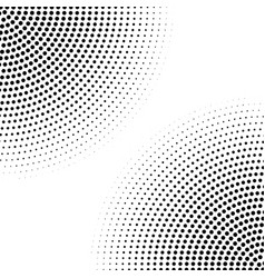 halftone circle dotted corners monochrome vector image