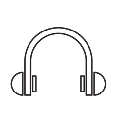 headphone music sound design vector image