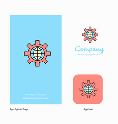 internet setting company logo app icon and splash vector image