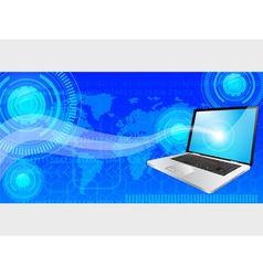 laptop background vector image
