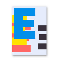 Letter e poster vector